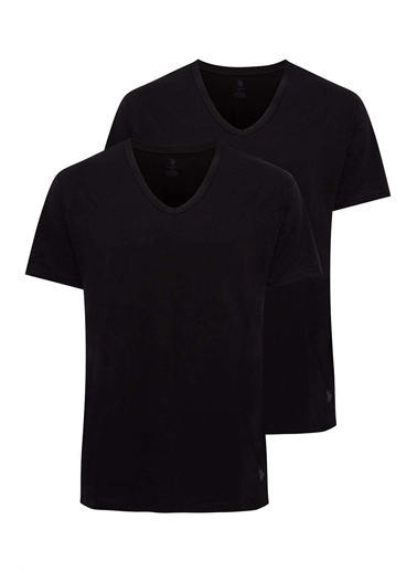 U.S. Polo Assn. U.S. Polo Assn. Erkek Siyah 2 Li T-Shirt Siyah
